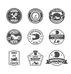 Biker label set vector