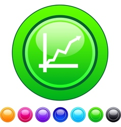 Positive trend circle button vector