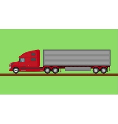 Red american truck isolated vector