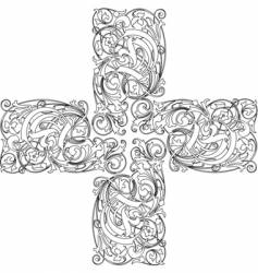Calligraphy cross vector