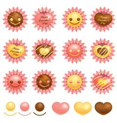 Various packing chocolate vector