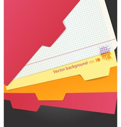 Background of color paper sheets and carton folder vector