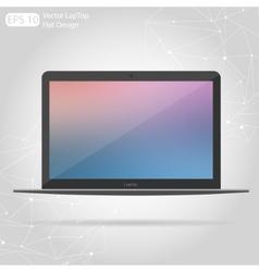Flat technic laptop phone tablet vector