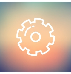 Gear thin line icon vector