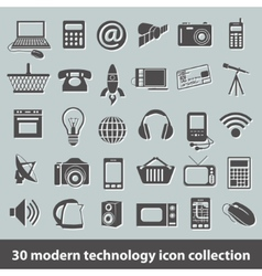 Modern technology icons vector