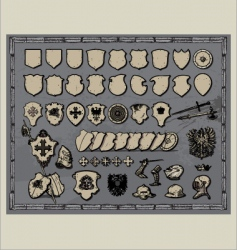 Heraldic shields templates vector