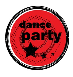 Dance party stamp vector