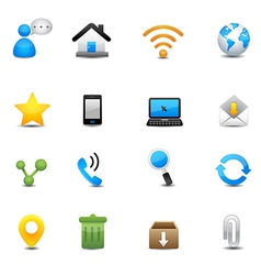 Internet and web icons set vector
