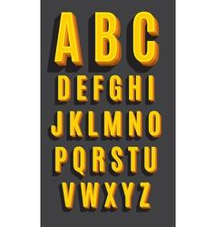 Retro type font vintage alphabet vector