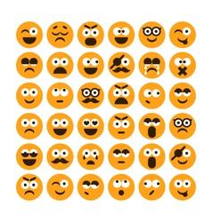 Set of different smiling icons vector
