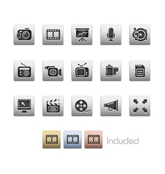 Multimedia icons vector