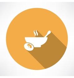 Hot food icon vector
