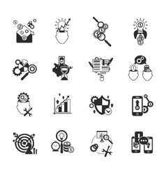 Business analysis icons set black vector