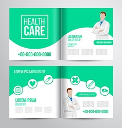 Healthcare brochure vector