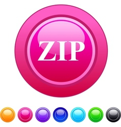 Zip circle button vector