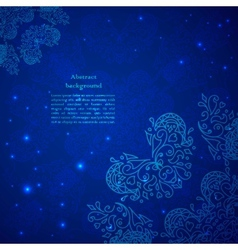 Blue abstract flower background vector