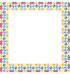 Paw print frame vector