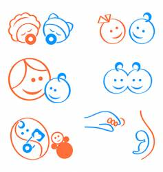 Babies logo elements vector