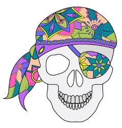 Painted skull vector