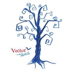 Spooky tree vector