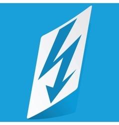 Voltage lightning sticker vector