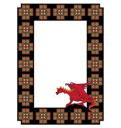 Frame with dragon vector