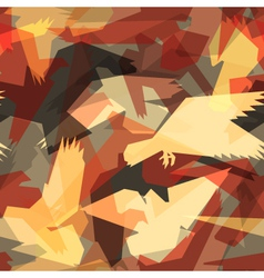 Abstract bird tile vector