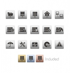 Network and server icons vector