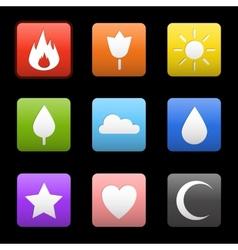 Random abstract icons set vector