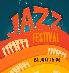 Jazz concert music background vector
