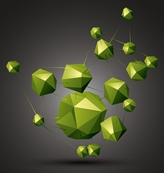 Geometric abstract 3d complicated object bright vector