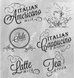 Names of coffee drinks 2 vector