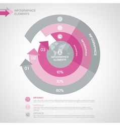 Business infographics for business presentations vector