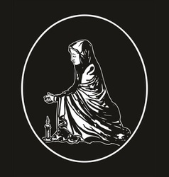Virgin mary praying vector