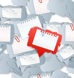Blank white papers seamless background vector