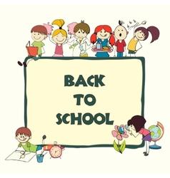 Kids school sketch banner vector