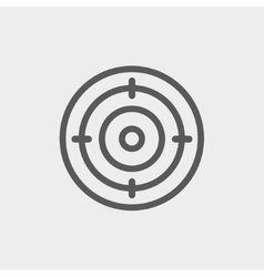 Target thin line icon vector