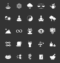 Zen concept icons on gray background vector