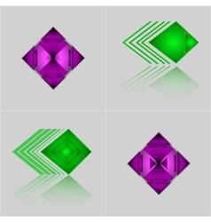 Set of abstract geometric triangle pattern with vector