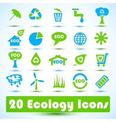 Eco icons set use for business vector