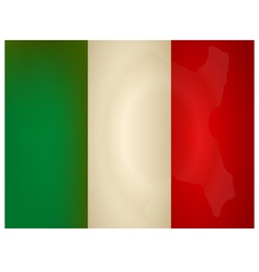 Vintage italy flag vector