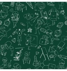School kids doodle sketch seamless vector