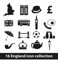 16 england icon collection vector
