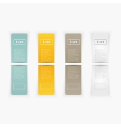 Set of blank rectangle labels vector
