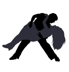Break dancers silhouettes vector
