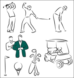 Golf figures vector