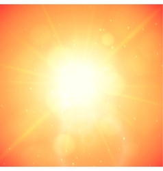 Summer background summer sun with lens flare vector