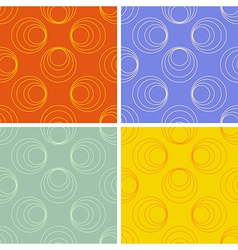 Seamless round figures pattern set vector