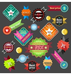 Sale labels colored vector