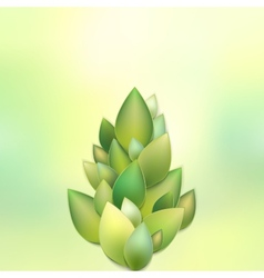 Green leaves abstract eps 10 vector